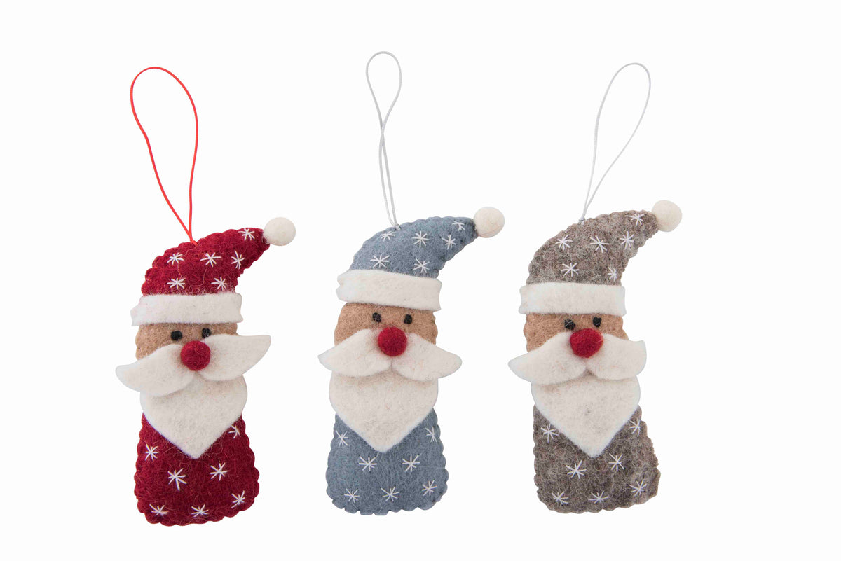 Hanging Decoration | Santa with Snowflake