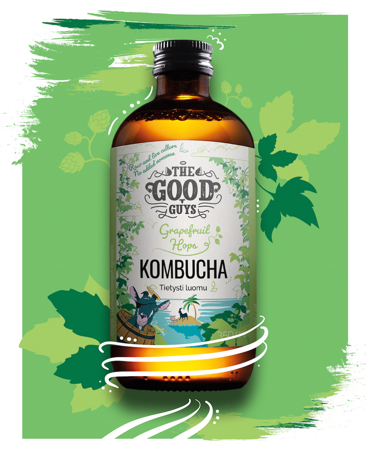 NEW ARRIVAL: GRAPEFRUIT HOPS KOMBUCHA, 10X350ML, ORGANIC