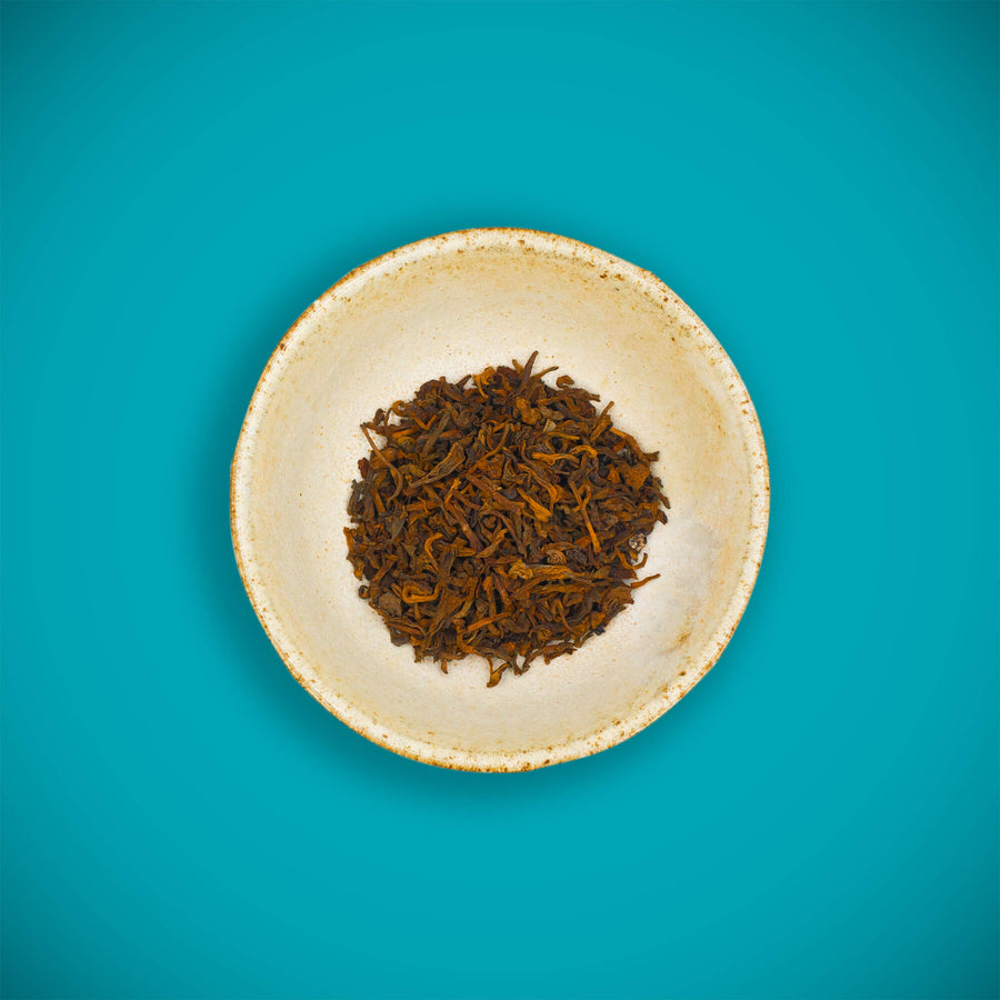 Pu'er - fermented dark tea, organic