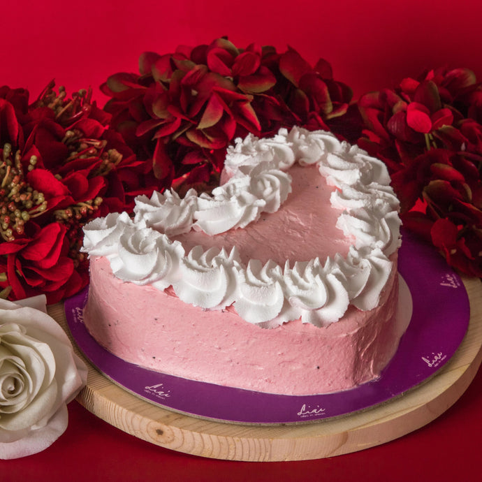 Strawberry Cream Cake Heart (Available in 3 sizes)