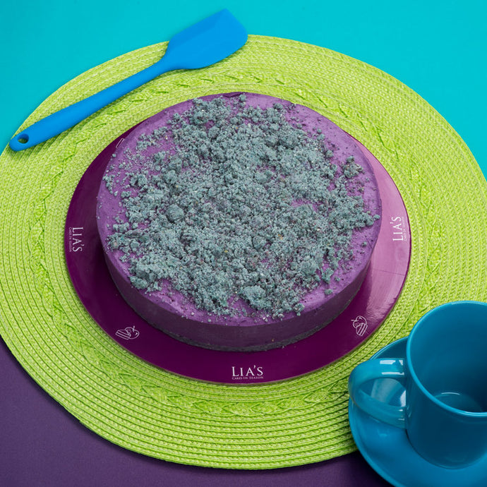 No-Sugar-Added Ube Cheesecake