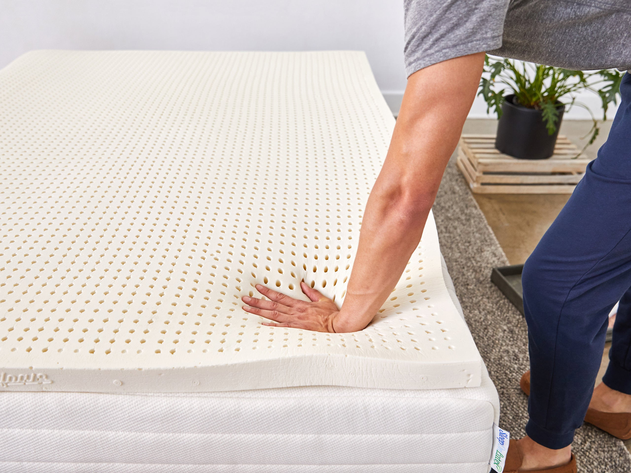 Latex Mattress Topper.Pure Green Natural Latex Mattress Topper Sleeponlatex Com