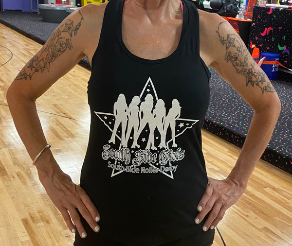Souhth Side Roller Derby white Tank