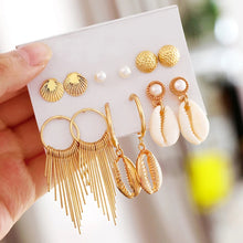 Load image into Gallery viewer, Coco Shell Earrings- Set of 6