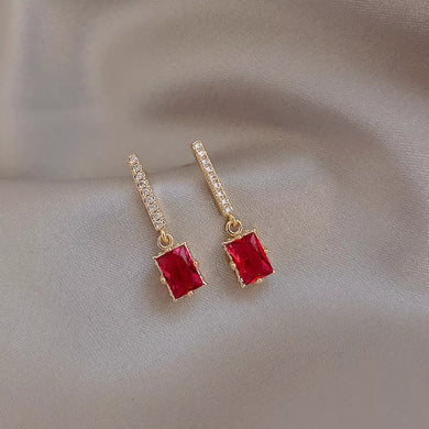 Angel Earrings- Ruby