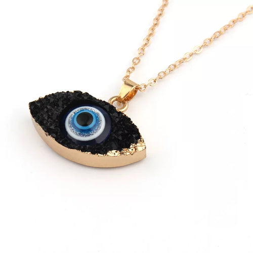 Evil Eye Druzy Necklace