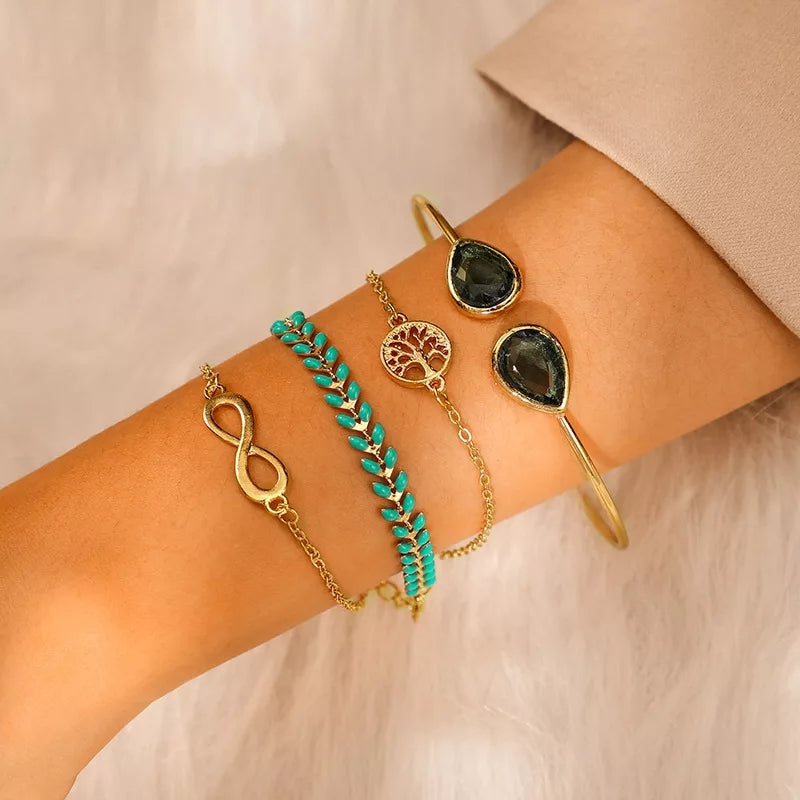 Jade Cuff Stack- Set of 4