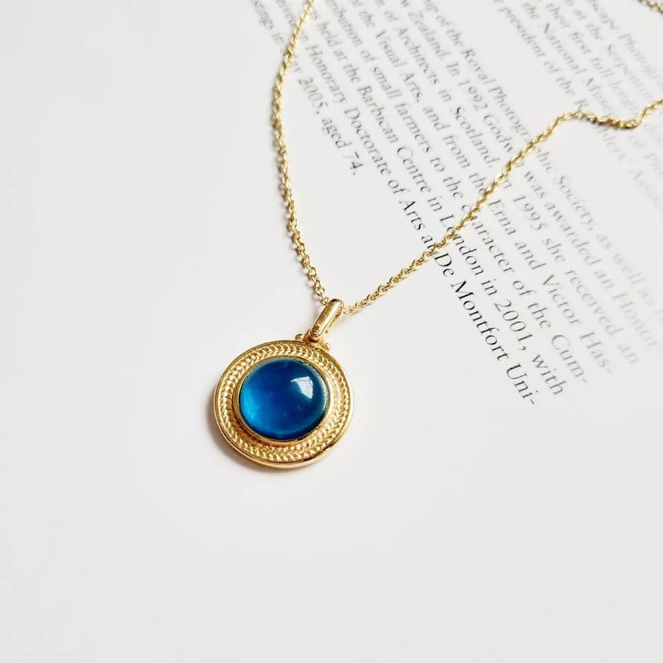 18K Gold Plated- Iris Necklace (925 Silver)