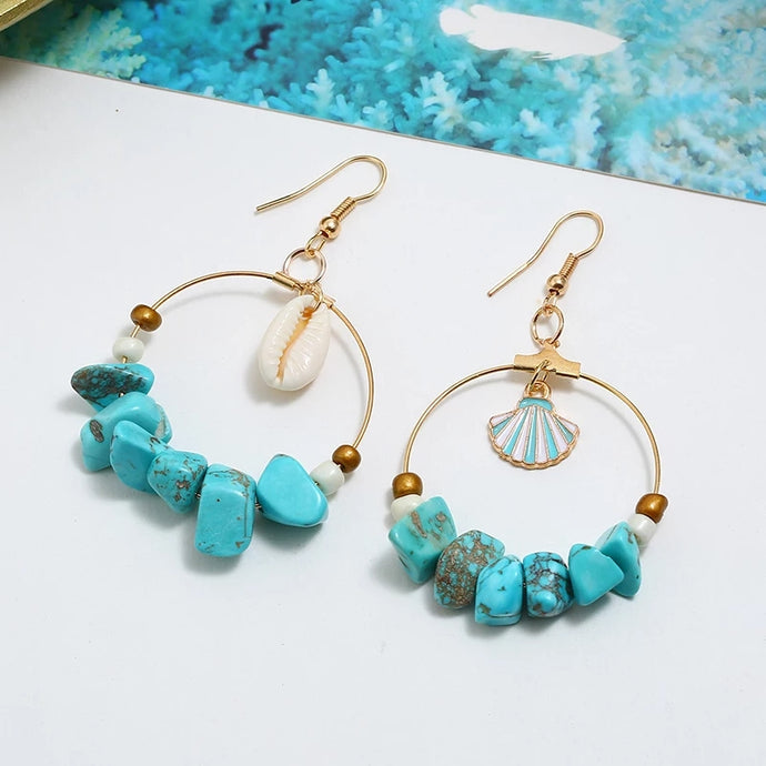 Wild & Free Earrings- Turquoise