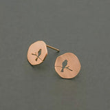 Singing Bird Earrings- Rose Gold