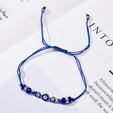 Load image into Gallery viewer, Evil Eye Charm Anklet