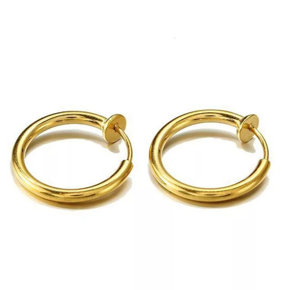 Retractable Hoop Earrings (No Piercing)