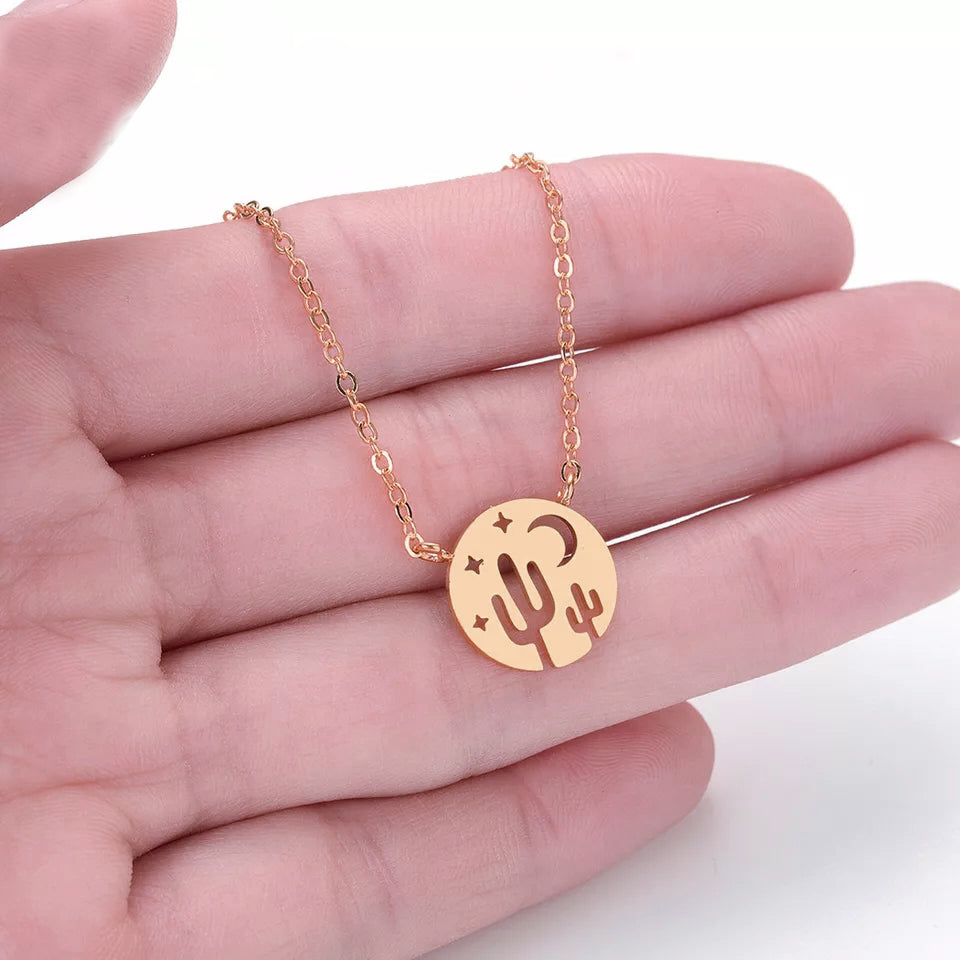 Cactus Necklace- Rose Gold