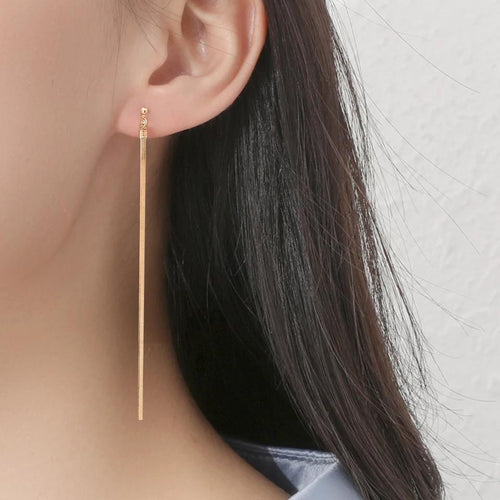 Snake String Earrings