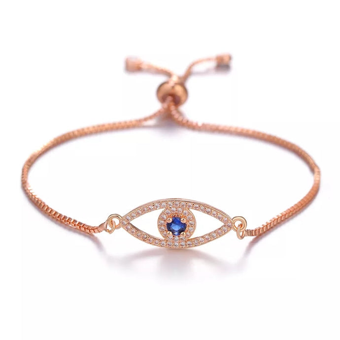 Evil Eye Rose Gold Bracelet