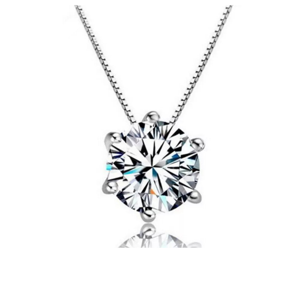 Solitaire Necklace- 925 Silver