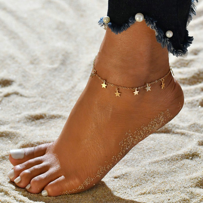 Star Charms Anklet
