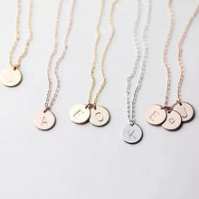 Load image into Gallery viewer, Alphabet Necklace- Rose Gold