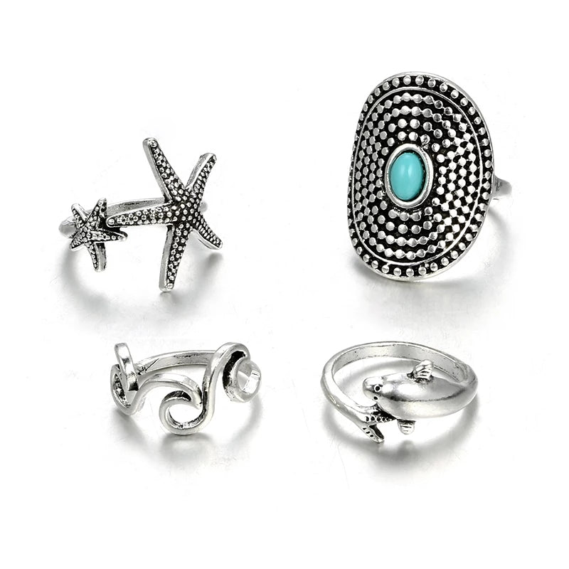 Malibu Rings- Stack of 4