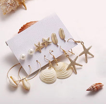 Load image into Gallery viewer, Boho Beach Earrings- Set of 6