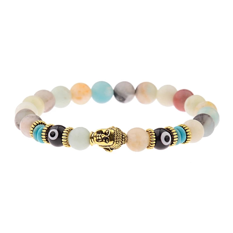 Buddha Beads (Natural Agate Stone)
