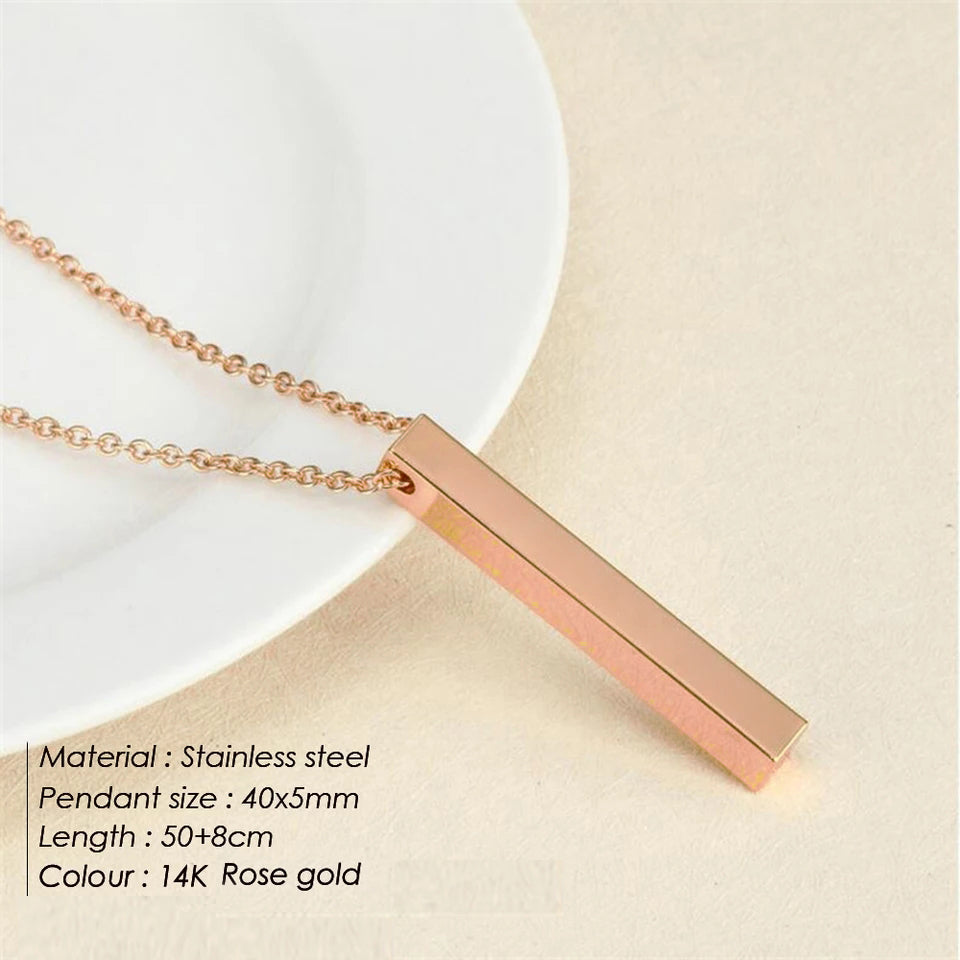 Cuba Necklace- Rose Gold