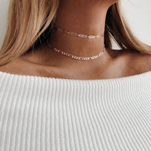 Load image into Gallery viewer, Link Choker Necklace- Set of 2