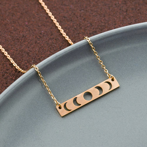 Rose Gold Lunar Necklace