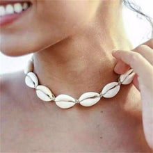 Load image into Gallery viewer, Cowrie Choker Necklace