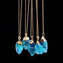 Load image into Gallery viewer, Turquoise Druzy Necklace