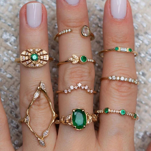 Pappi Rings- Stack of 9