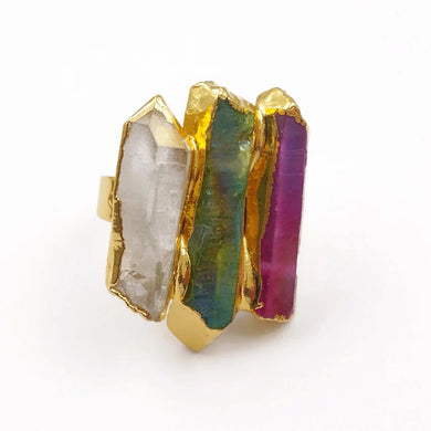 Quartz Statement Ring