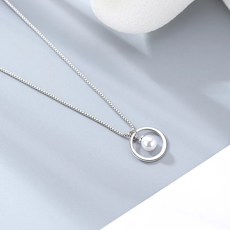 Karma Pearl Necklace- 925 Silver