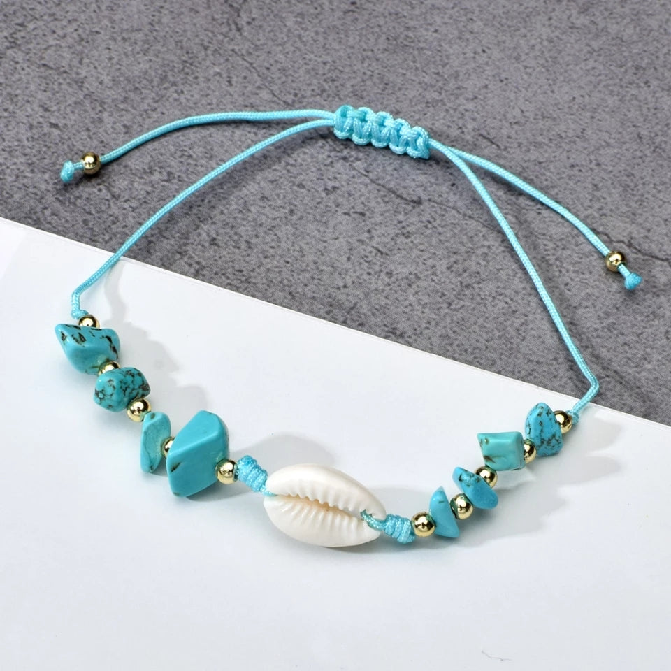 Azure Anklet- Single Shell