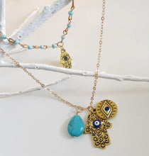 Load image into Gallery viewer, Spirit of Hamsa Necklace