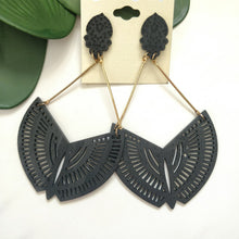 Load image into Gallery viewer, Wood Carved Earrings