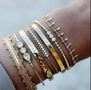 Talisman Bracelets- Stack of 6