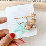 Coral Reef Hair Barrette- Set of 3
