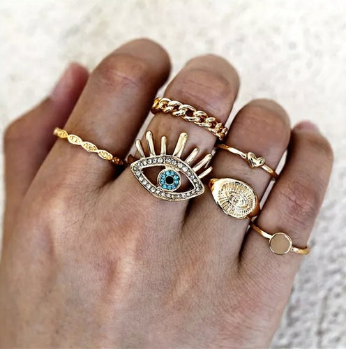 Evil Eye Ring Stack