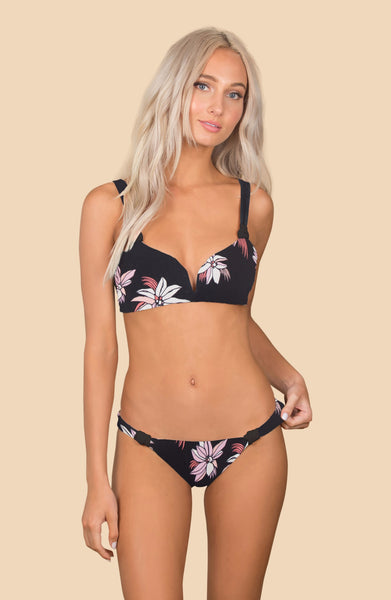 Castaway Top -  (Star Lily/Black)