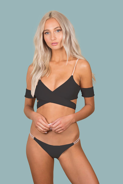 Lovestruck Top -  (Black/Bone)