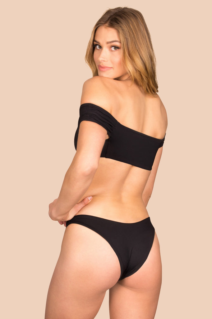 Catalina Bottom - (Black/Bone)
