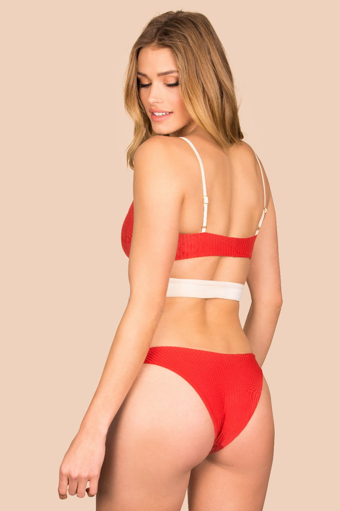 Vita Bottom - (Rib Scarlet/Rib Shell)