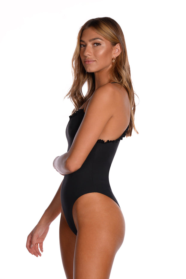 Alessa One Piece - (Black/Bellini)