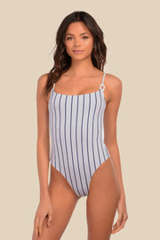 HB One Piece - (Navy Stripe/Navy)