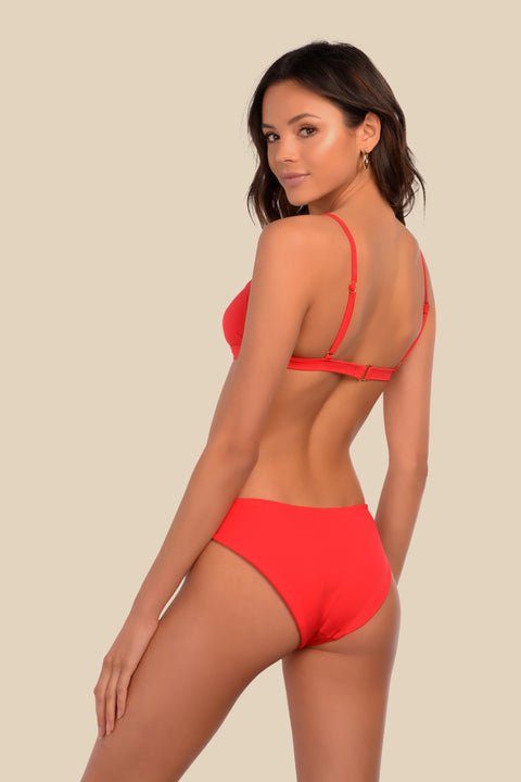Venice Bottom - (Red Stripe/Cherry)