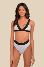 Isla Bottom - (White Leo/Black)
