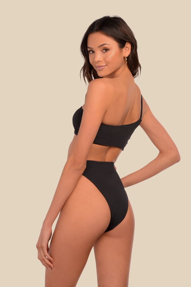 It Girl One Piece - (White Leo/Black)