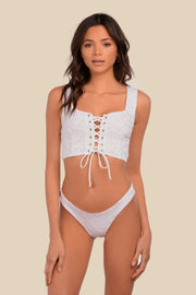 Lola Top - (White Leo/Rib Bellini)
