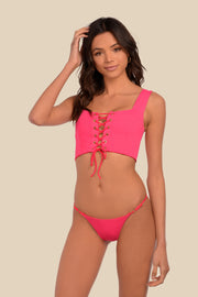 Lola Top - (Rouge/Hot Pink)